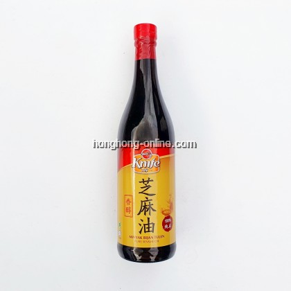 [KNIFE] PURE SESAME OIL / MINYAK BIJAN  麻油 630ML