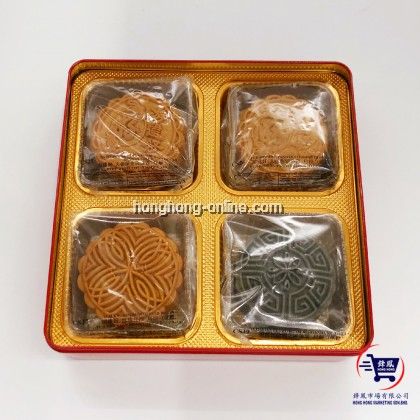 [YCH] GOURMET BLESSING GINSENG MOOCAKE RED BOX (4 MOONCAKES)